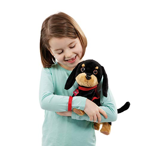 Animagic- Waggles, mi Perrito Salchicha Mascota Que ladra y anda, Color Negro - marrón (256655)