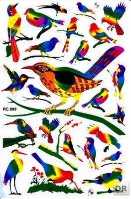 Animales pájaros los pájaros cantores pegatinas hoja 270 mm x 180 mm 25 piezas 1 11 ¡fiesta kids crafts