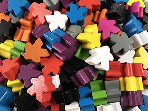 Apostrophe Games Meeples de Madera Tamaño estándar (16 mm) (100 Multicolor)