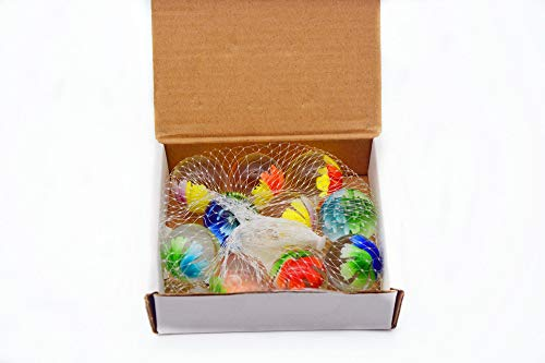 ARSUK Canicas de Cristal, Glasmurmeln, marmoles de Cristal, Vidrio Modelado Colorido Perlas Bolas de Cristal para niños (10 Piezas de canicas florecientes)