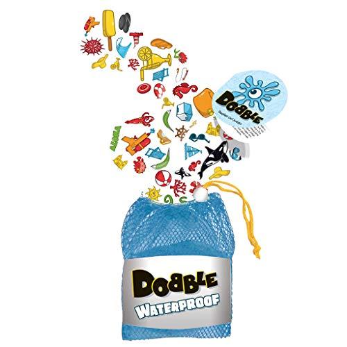 Asmodee - Dobble Waterproof, Juego de cartas impermeable (ADE0ASDO007)