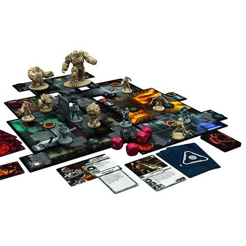 Asmodee- Doom: El Juego de Mesa Edición íntegramente en Italiano con espléndidas miniaturas, Color, 9830