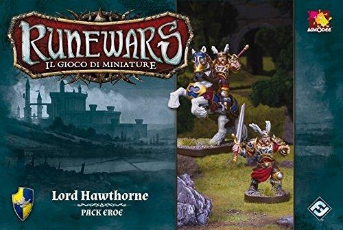 Asmodee Italia - Runewars El Juego de miniaturas expansión Lord Hawthorne, Color, 9705
