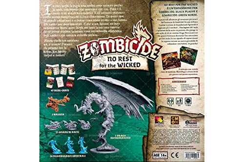 Asmodee Italia Zombicide Green Horde: No Rest for The Wicked, Juego de Mesa, Color, 8438