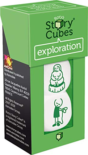 Asmodee- Story Cubes Exploracion, (Expansiã³N Color Verde ADECHSCEX14)
