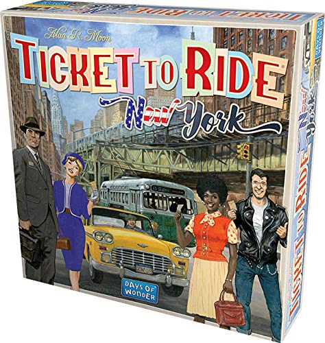 Asmodee- Ticket To Ride New York Juego de Mesa, Color Azul, 720560