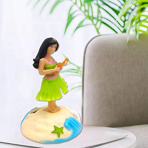 asterisknewly Alpicadero De Hula Girl Bobble Head Energía Solar Solar Dancing Girl Swing Animation Bubble Dancer Toy Car Decoración Kid Toy Gift