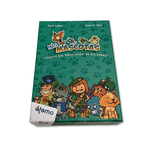 Átomo Games Más Mascotas. Juego de Cartas. Expansión Mascotas