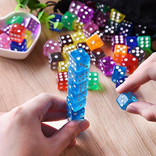AUSTOR 100 Piezas Dados 6 Caras Juegos de Dados, 10 Colores