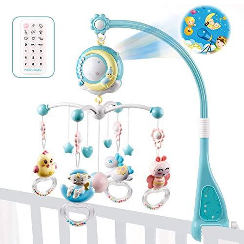 Baby Musical Cot Mobile, Juguete colgado sonajero, Baby Música Belén Moving Bed Bell Juguetes Colgar sonajero Shaking proyección Regalo Adecuado para belén, Pesebre, Cochecito
