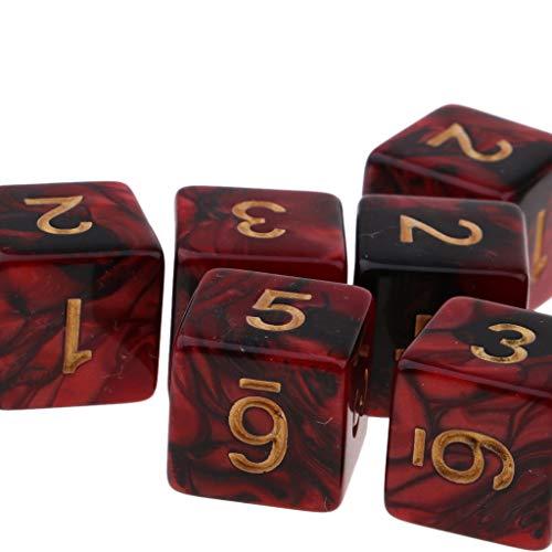 Baoblaze 20 Piezas Juego de Mesa Dados de 6 Caras Colores Translúcidos Herramientas para Enseñanza de Matemáticas