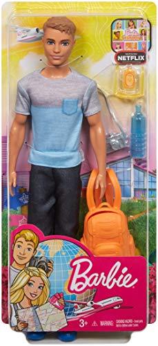 Barbie Vamos de Viaje, muñeco Ken con accesorios, regalo para niñas y niños 3-9 años (Mattel FWV15) , color/modelo surtido