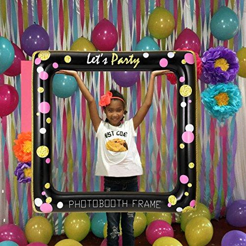 BESTOYARD Marco Inflable Photo Booth Props Party Selfie Marco de Imagen para la Boda de cumpleaños Ducha Nupcial Baby Shower Fiesta de Navidad