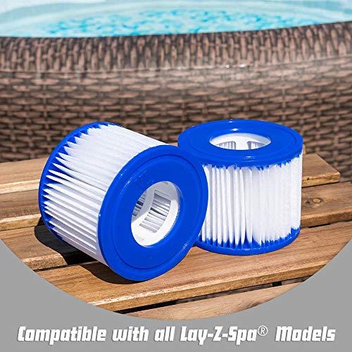 Bestway 58323 - Cartuchos de filtro de repuesto para Lay-Z-Spa