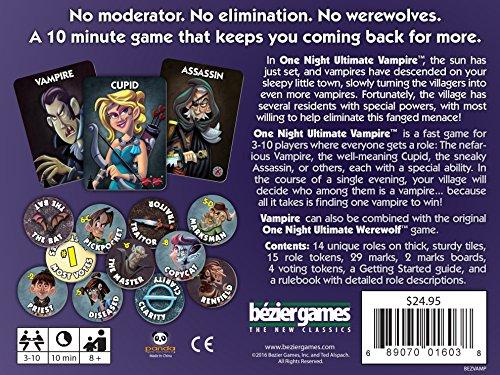Bezier Games One Night Ultimate Vampire - Card Game - Kartenspiel - Englisch - English