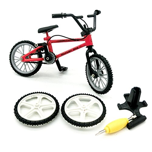 Bicicleta de dedo, Juguetes de metal en miniatura Deportes extremos Finger Cycling Mountain Bike Juegos creativos Kids Christmas Gift (Color al azar)