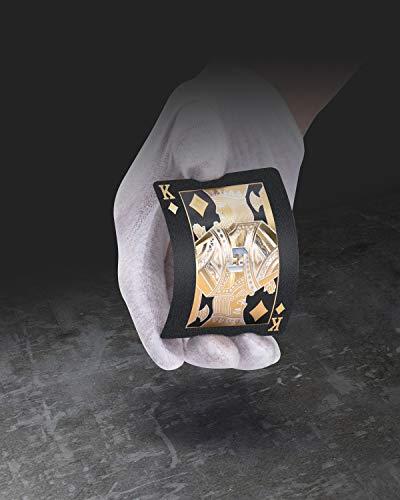 BIERDORF Solarmatrix Baraja Poker Plastico Negro - Resistente al Agua Novedad Cartas de Poker Profesional