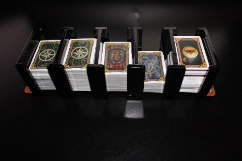 Black Board Game Card Tray Feeder. 41mm x 63mm. Talisman, Ba