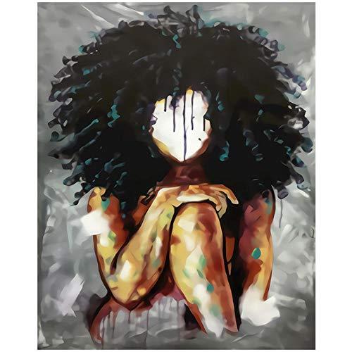 Bmstjk Rompecabezas Divertidos, Cuadro Abstracto de Rompecabezas de Madera para Adultos de Black Girl Magic, Decoración de Pared Decoración Moderna para el hogar Office-1000 Piezas
