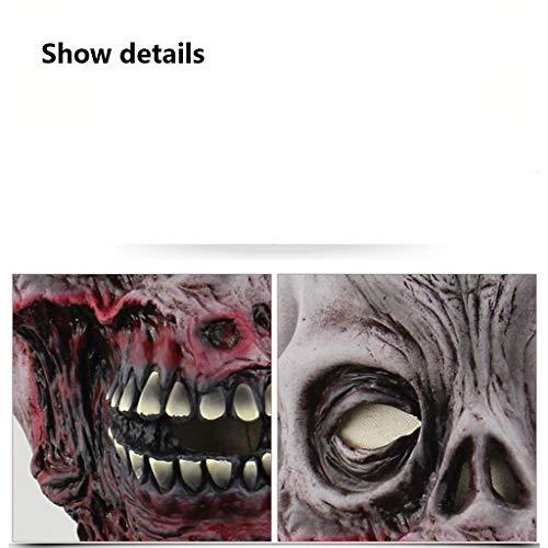 Boca podrida máscara de calavera de terror zombie fiesta de disfraces pelucas de miedo miedo Halloween disfraz divertido casa encantada juegos de rol máscara del mal material de látex COS máscara orde