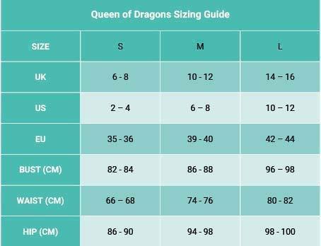 Bodysocks® Disfraz de Reina de Dragones