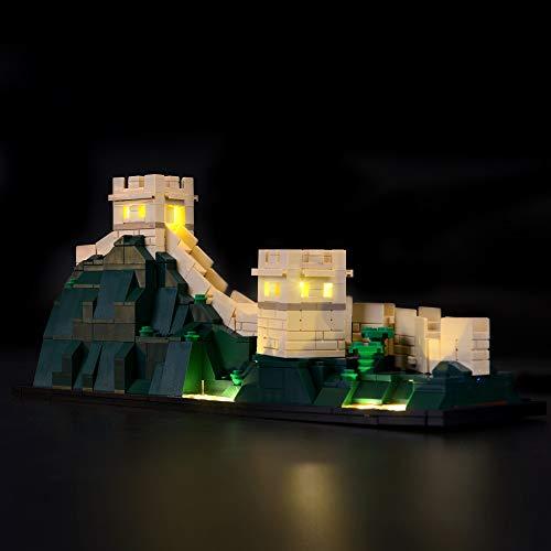 BRIKSMAX Kit de Iluminación Led para Architecture Gran Muralla China-Compatible con Ladrillos de Construcción Lego Modelo 21041, Juego de Legos no Incluido