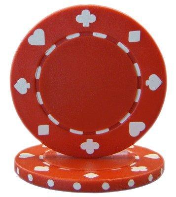 Brybelly: fichas de póquer con los palos impresos (50uds.) - CPSP-RED*50, 11.5gm, Rojo
