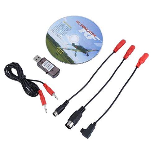 Cable de simulador de vuelo 22 en 1 RC USB para Realfly G7/G6/G5 Phoenix 4 E2HG