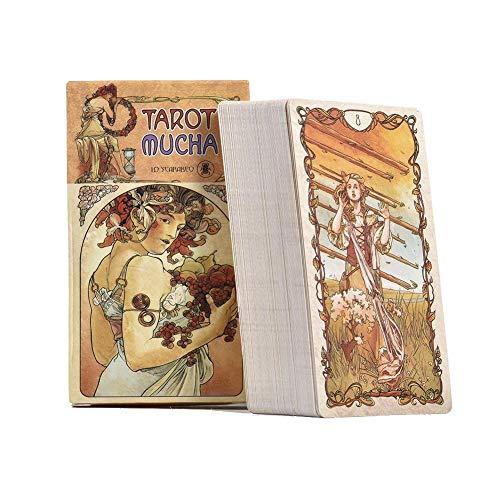 Cartas del Tarot Mucha 78 Tarot   Un Extraordinario Homenaje Al Pionero del Art Nouveau Alphonse Mucha, Esta Baraja Abraza La Belleza Fresca De Los Albores del Siglo XX