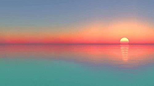 CHANGWW 1000 Rompecabezas Calma mar Sol Horizonte Paisaje Gran Juego de descompresión de Madera dificultad es unRegaloDivertido