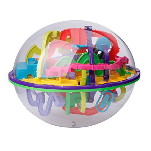 chenpaif 299 Barreras 3D Magic Intellect Ball Balance Maze Game Puzzle Globe Toy Kid Gift