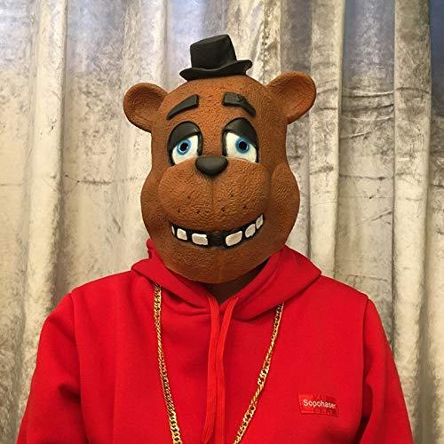 Cinco Noches En Freddy'S Cosplay Máscara Foxy Chica Freddy Bear Animal Mask Regalo para Adultos Halloween Disfraz Fiesta Props Divertido