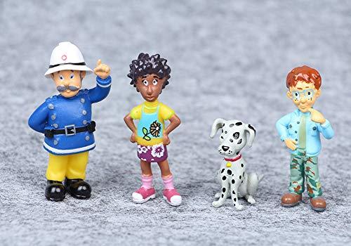 Conjunto de 12 Juguetes de la Figura de acción de Sam el Bombero Conjunto de Juguetes de muñeca Modelo de PVC