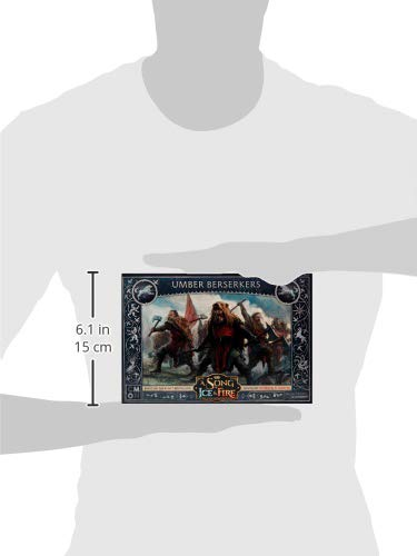 CoolMiniOrNot CMNSIF103 Thrones A Song of Ice and Fire Miniatures Game: Umber Berserkers Expansion, Multicolor
