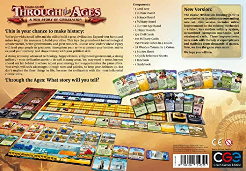 Czech Games Edition Through The Ages [2015] – Una Nueva Historia de la civilización, Juego de Mesa de Vlaada Chvatil
