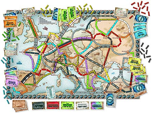 Days of Wonder Ticket to Ride Europe - Juego de Mesa de Estrategia sobre ferrocarriles (en inglés)