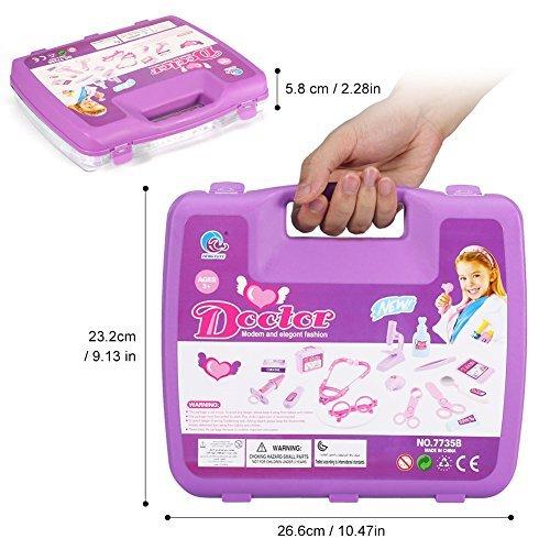 Desconocido Genérico (TM Rollplay Juegos Pretenidos Doctor Enfermera Médica Carry Case Kit Roll Play Set Niños Juguete Regalo, Rosa
