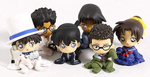 Detective CONAN Conjunto Completo 6 Figuras Chijimasetai Vol. 4 Colección 4cm Personajes niños pequeños Shinichi Kudo Ran Phantom Gashapon 100% Original