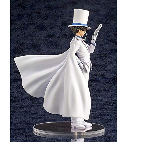 Detective Conan Kaitou Kiddo Lucha de Plumas Negras Posición de pie Figura de Acción Colección Estatua Regalo de iños 25cm