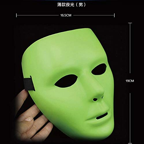 DFLMBV Máscara de luz de la Noche de Baile enmascarada Todos los Santos Accesorios de Carnaval Máscara de Fantasma resplandeciente Máscara de Baile de Hip-Hop Máscara de Baile