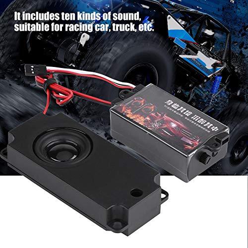 Dilwe Simulador de Sonido del Motor del Coche RC, M¨®dulo de Control Remoto del Motor de Sonido del Coche con 1 Parlante para 1/10 Veh¨ªculo Modelo(One Speaker)