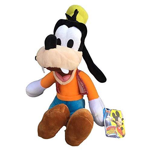 Disney – PTS – Mickey de Peluche Pippo 25 cm, Color Blanco, 1