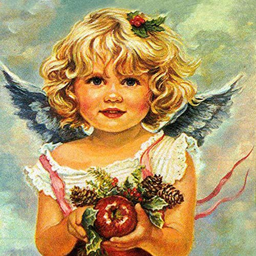 DIY Pintar por números Pintado a Mano Linda niña ángel Kit de Pintura Digital para Adultos, Juego de Regalo de Pintura al óleo DIY, Pintura sin Marco 40X40 cm