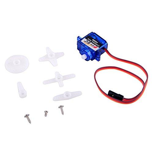 DIYmalls Feetech FS90R Servo Motor rotación Continua 360 Grados 6V 1.5 kg para Arduino Drone (Pack of 2)