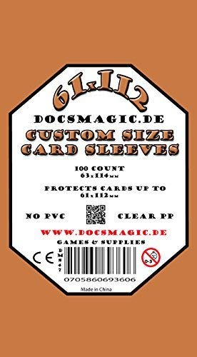 docsmagic.de 100 French Tarot Board Game Sleeves - 61 x 112 - 63 x 114