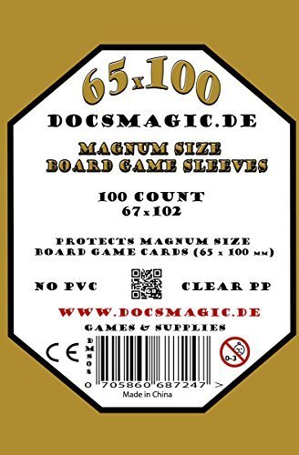 docsmagic.de 100 Magnum Size Board Game Sleeves - 67 x 102 - Extra Large - 65 x 100 7 Wonders