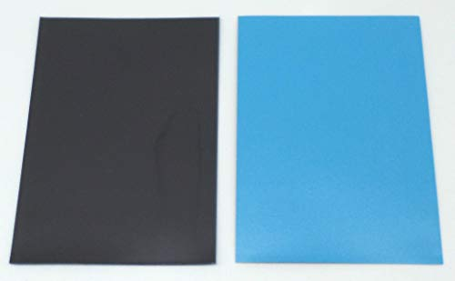 docsmagic.de 200 Premium Bi-Color Card Sleeves Mat Light Blue / Black Standard Size 66 x 91 Fundas Azul Claro Negra