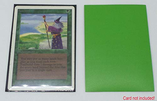 docsmagic.de 200 Premium Bi-Color Card Sleeves Mat Light Green / Black Standard Size 66 x 91 Fundas Verde Claro Negra