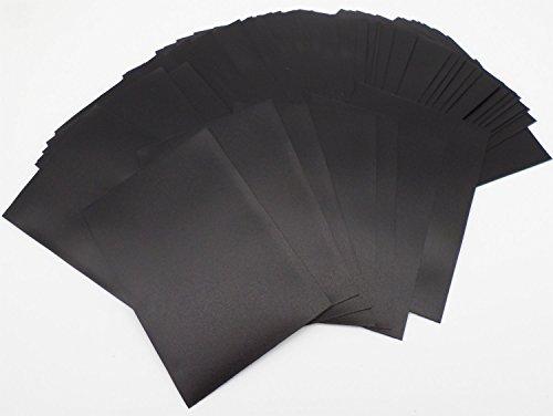 docsmagic.de 4 x 60 Mat Black Card Sleeves Small Size 62 x 89 - YGO CFV - Mini Fundas Negra