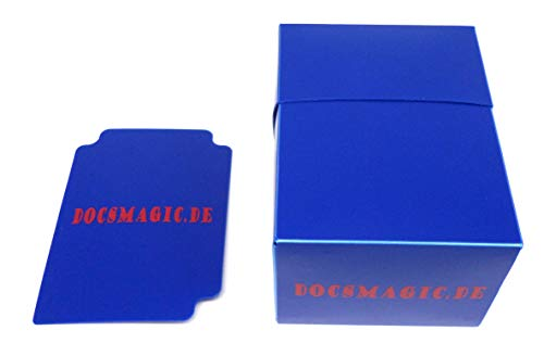 docsmagic.de 4 x Deck Box Full Blue + Card Divider - Caja Azul - PKM YGO MTG